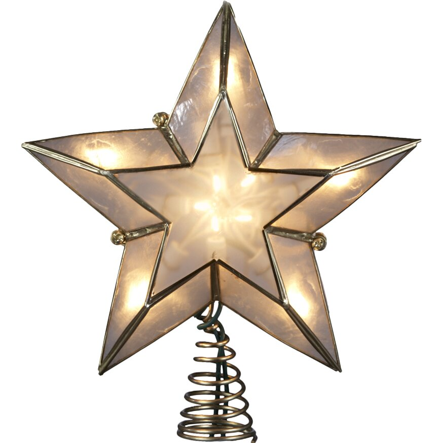 Ivory and Capiz Star Tree Topper