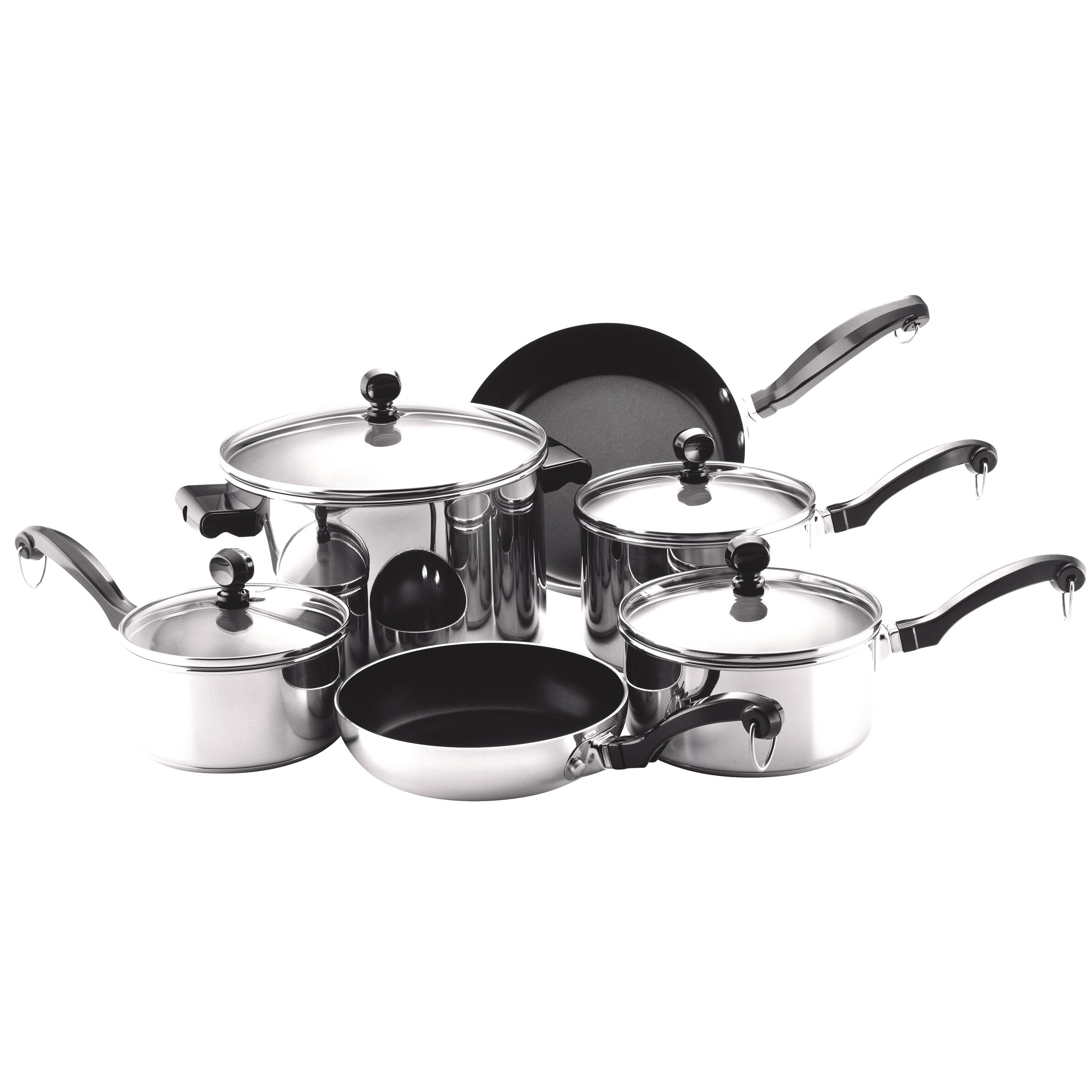 Farberware Classic Stainless Steel 10 Piece Cookware Set ...
