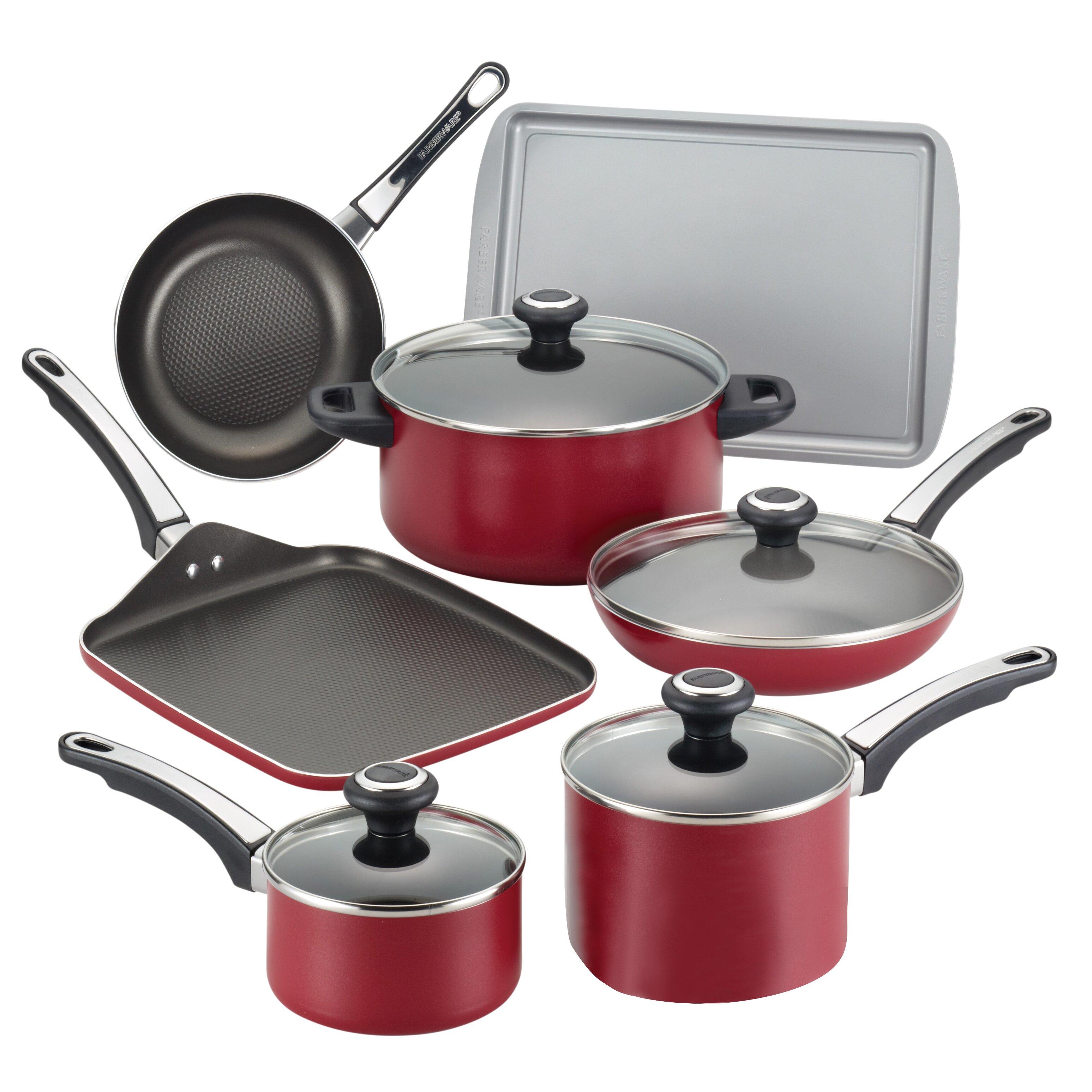 Farberware High Performance Nonstick 17 Piece Cookware Set ...