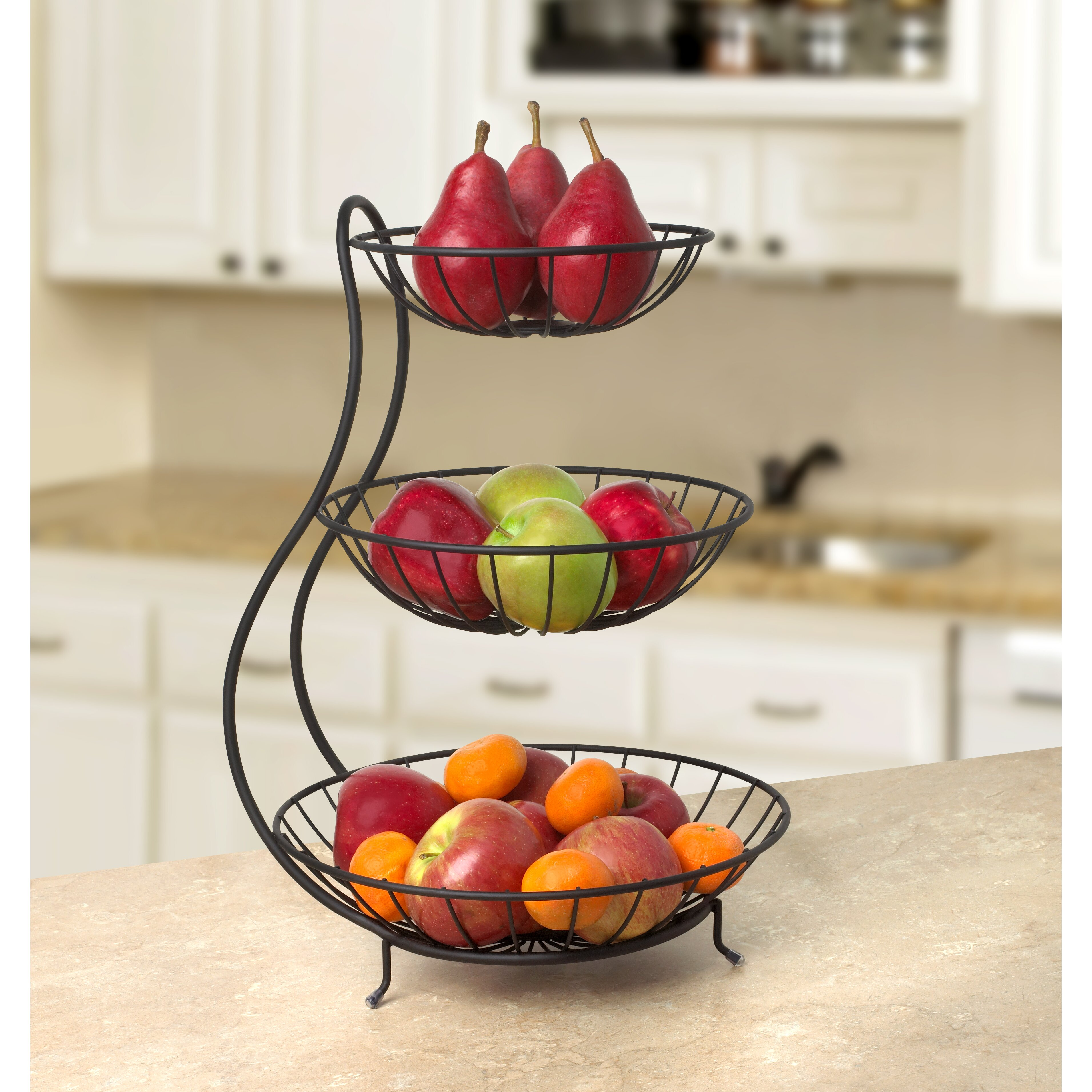 Yumi arched 3 tier fruit bowl wayfair - Tiered fruit bowl ...