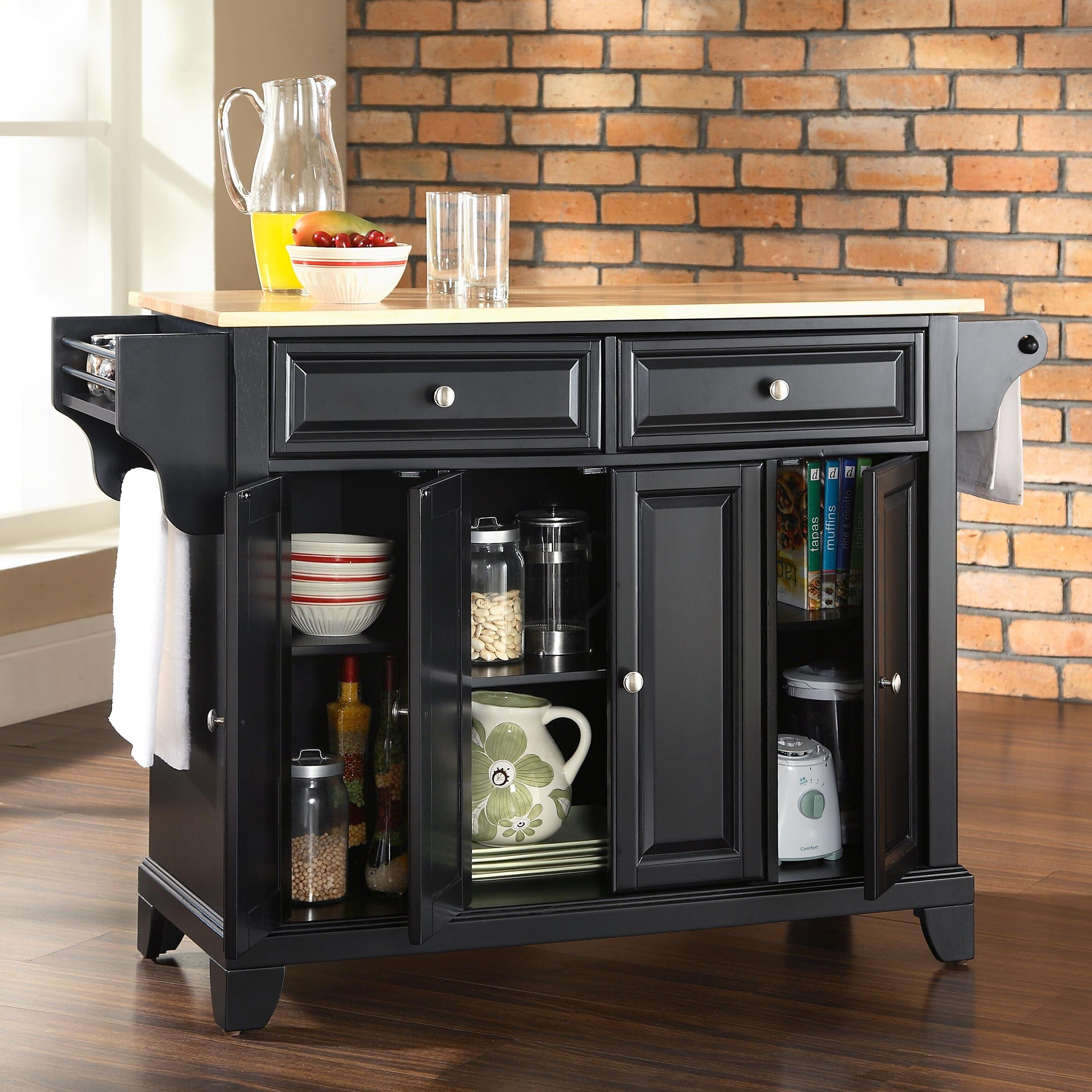 Kitchen Island Furniture: Crosley LaFayette Kitchen Island & Reviews