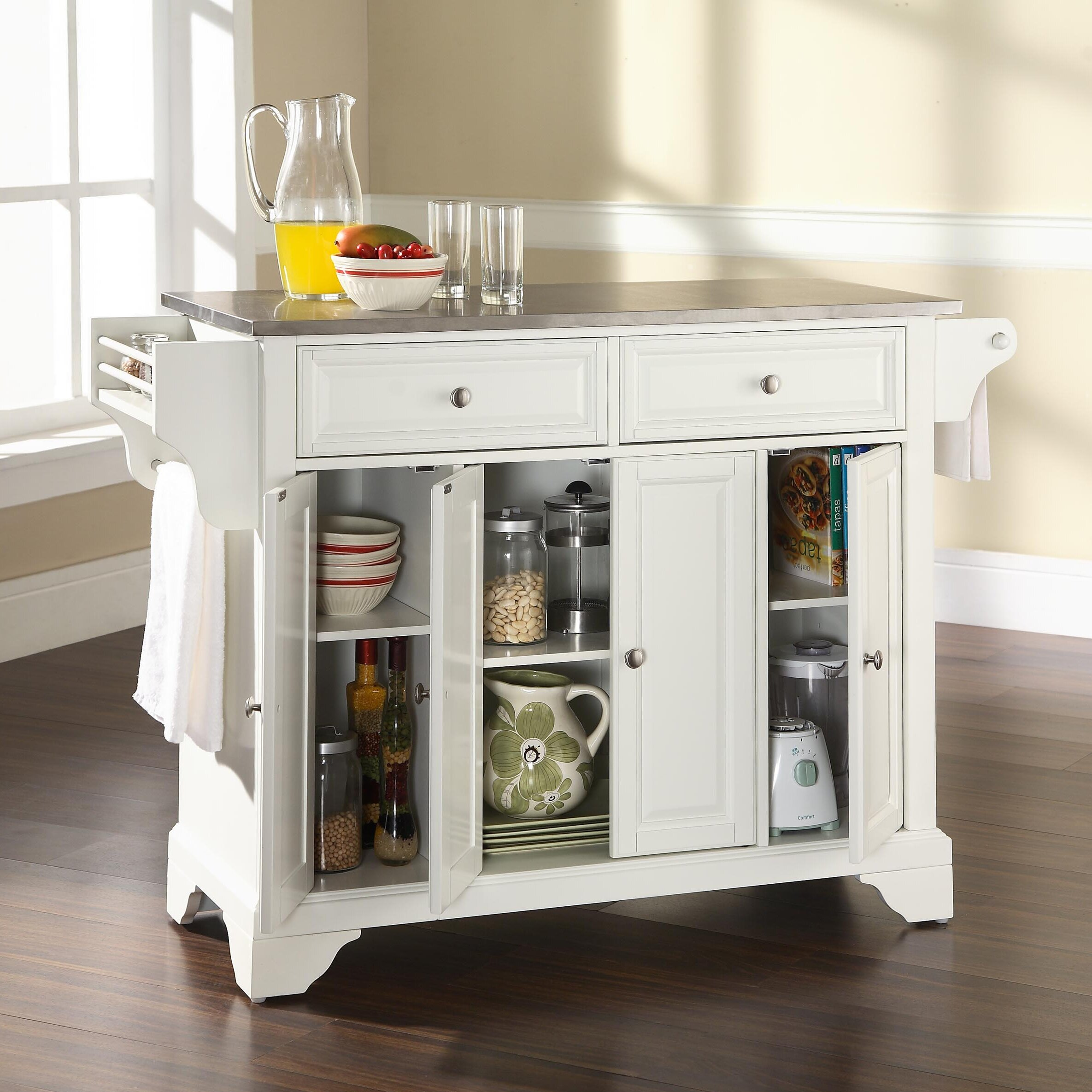 Kitchen Art Lafayette: Crosley LaFayette Kitchen Island With Stainless Steel Top