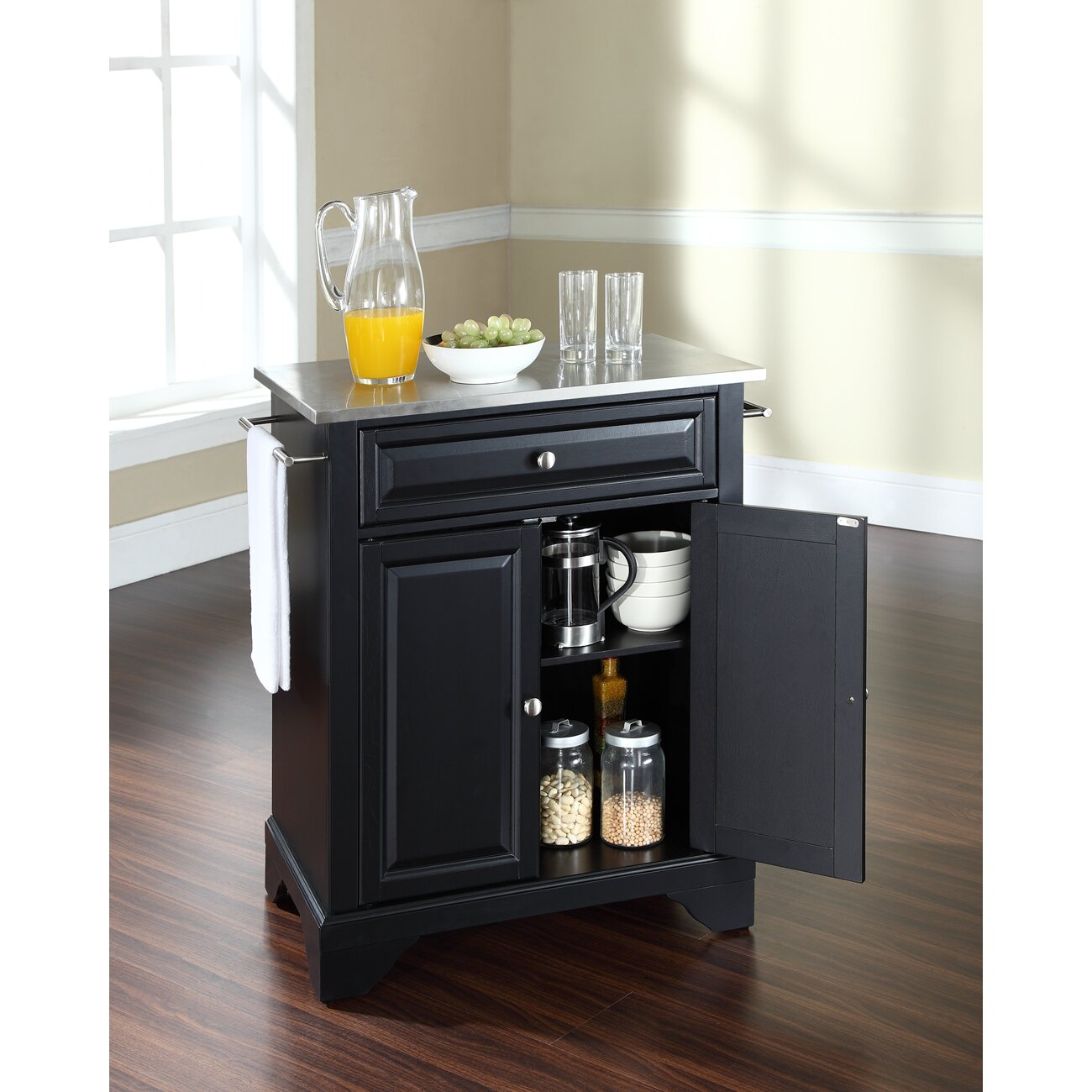 Stainless Kitchen Cart: LaFayette Kitchen Cart With Stainless Steel Top