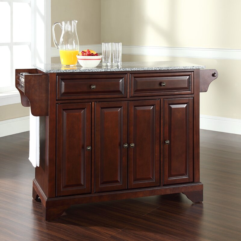 Kitchen Island With Marble Top: LaFayette Kitchen Island With Granite Top