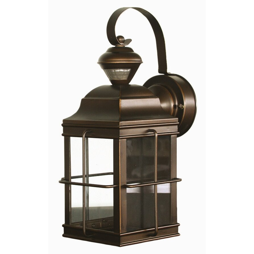 Motion Activated 1 Light Outdoor Wall Lantern Security ...