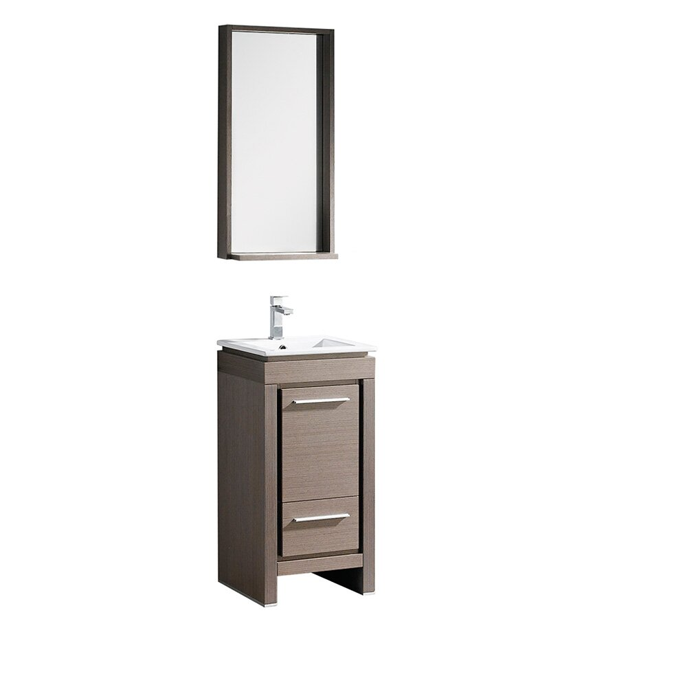 small bathroom vanity mirrors allier 16 quot single small modern bathroom vanity set with 20521
