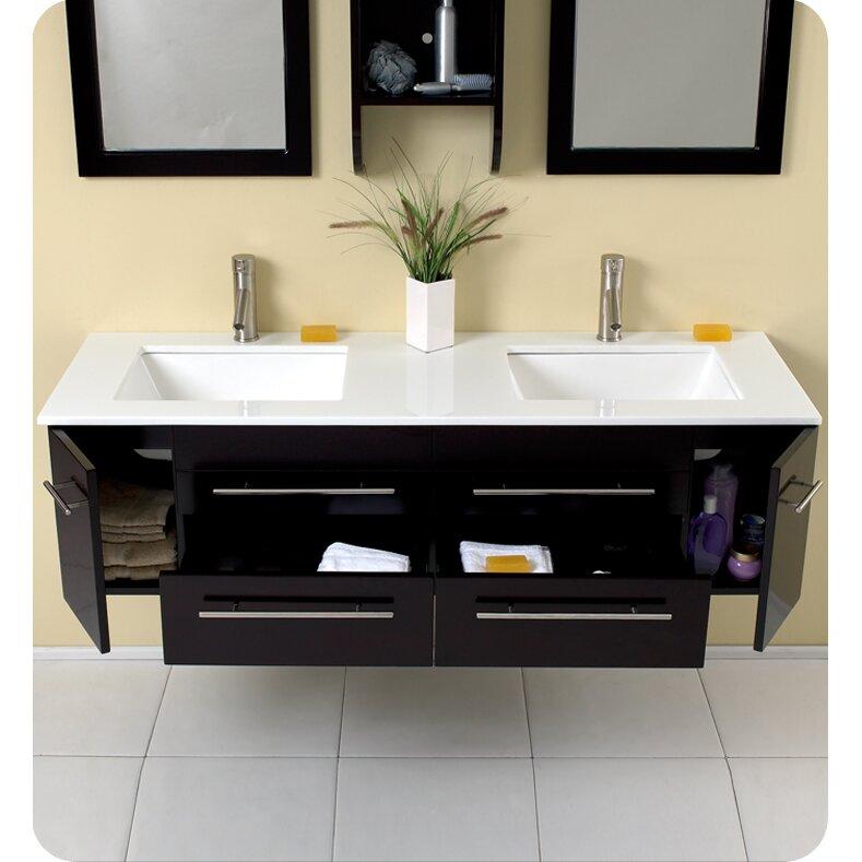 Fresca stella bellezza 59 double modern bathroom vanity for All modern bathroom vanity