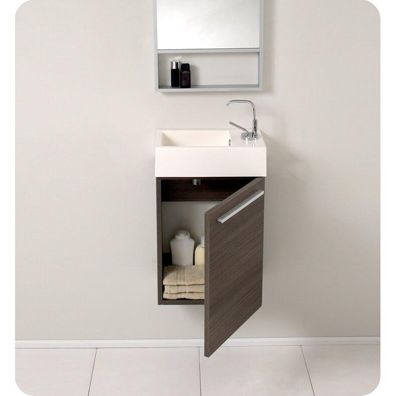 Senza 16 Single Pulito Small Modern Bathroom Vanity Set With Mirror Wayfair