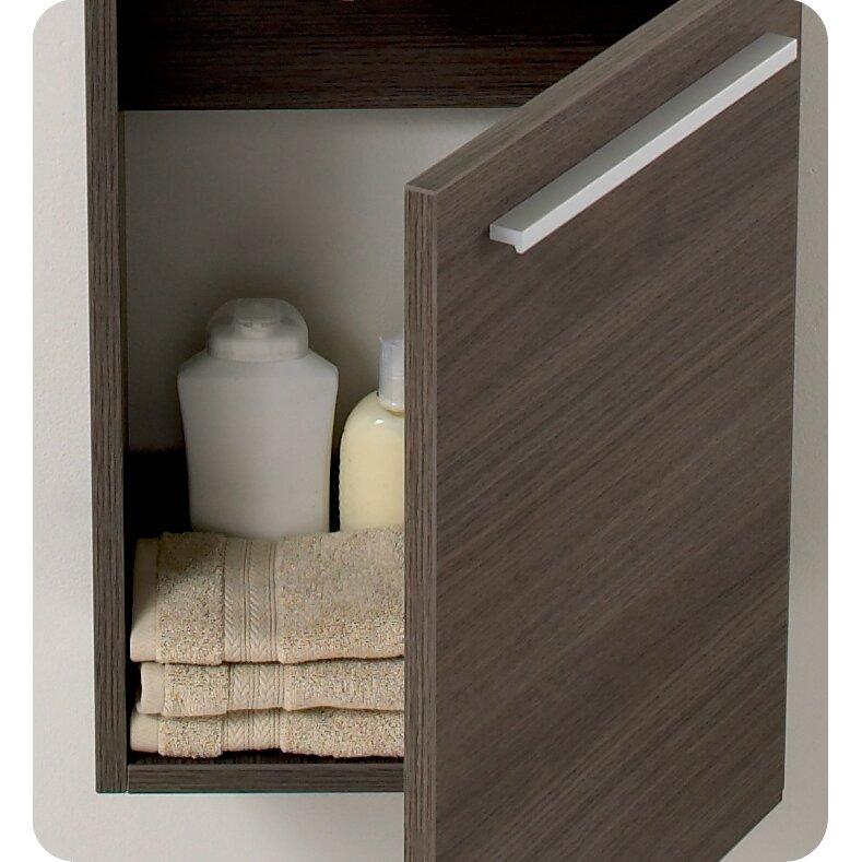 senza 16 single pulito small modern bathroom vanity set with mirror wayfair. Black Bedroom Furniture Sets. Home Design Ideas