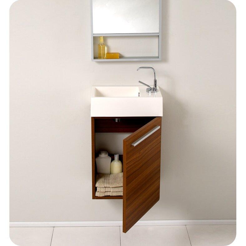 Senza 16 Single Pulito Small Modern Bathroom Vanity Set