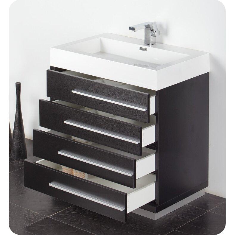 Senza 30 Single Livello Modern Bathroom Vanity Set Wayfair