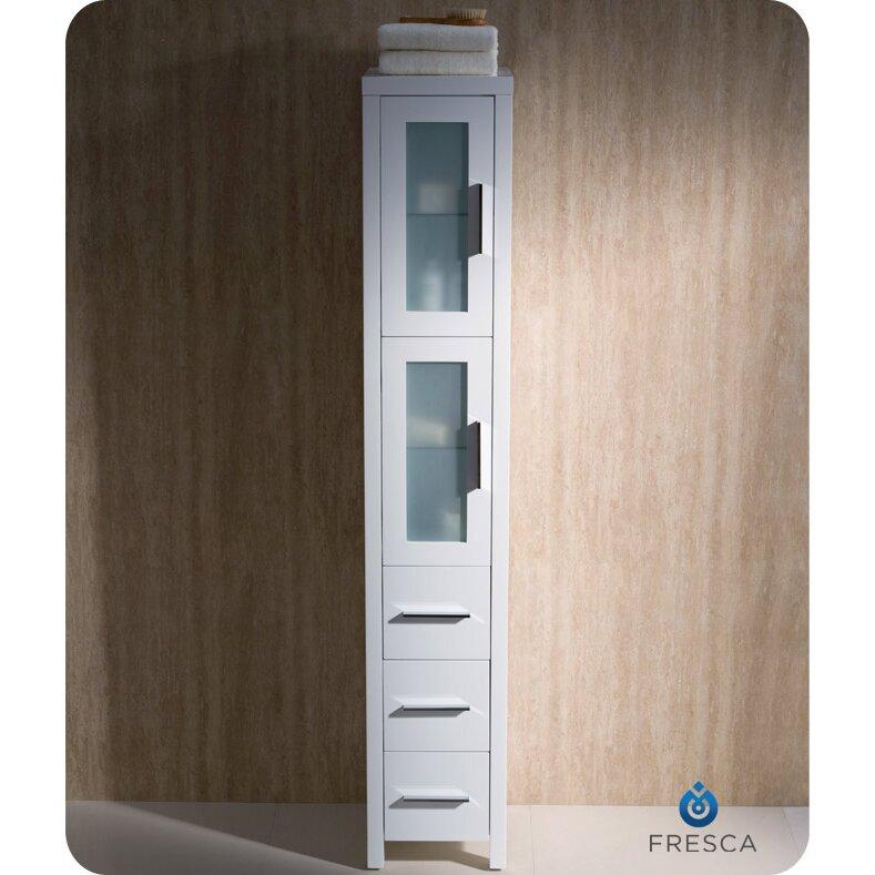 fresca bari torino 12 x 68 bathroom linen side cabinet revi