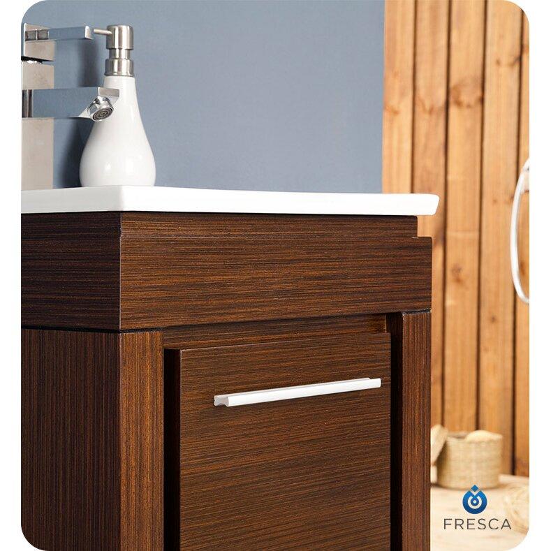 fresca allier 16 single small modern bathroom vanity set with mirror