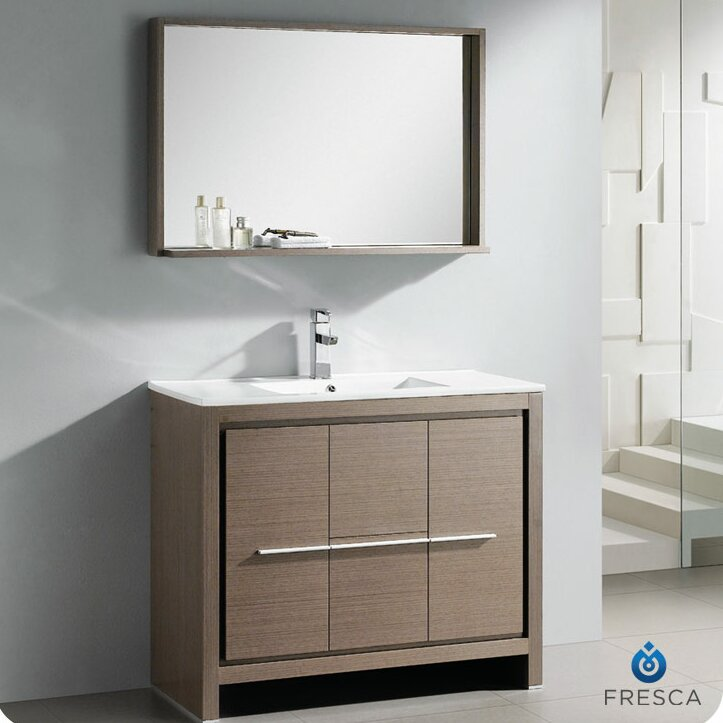Allier 40 Single Modern Bathroom Vanity Set With Mirror Wayfair