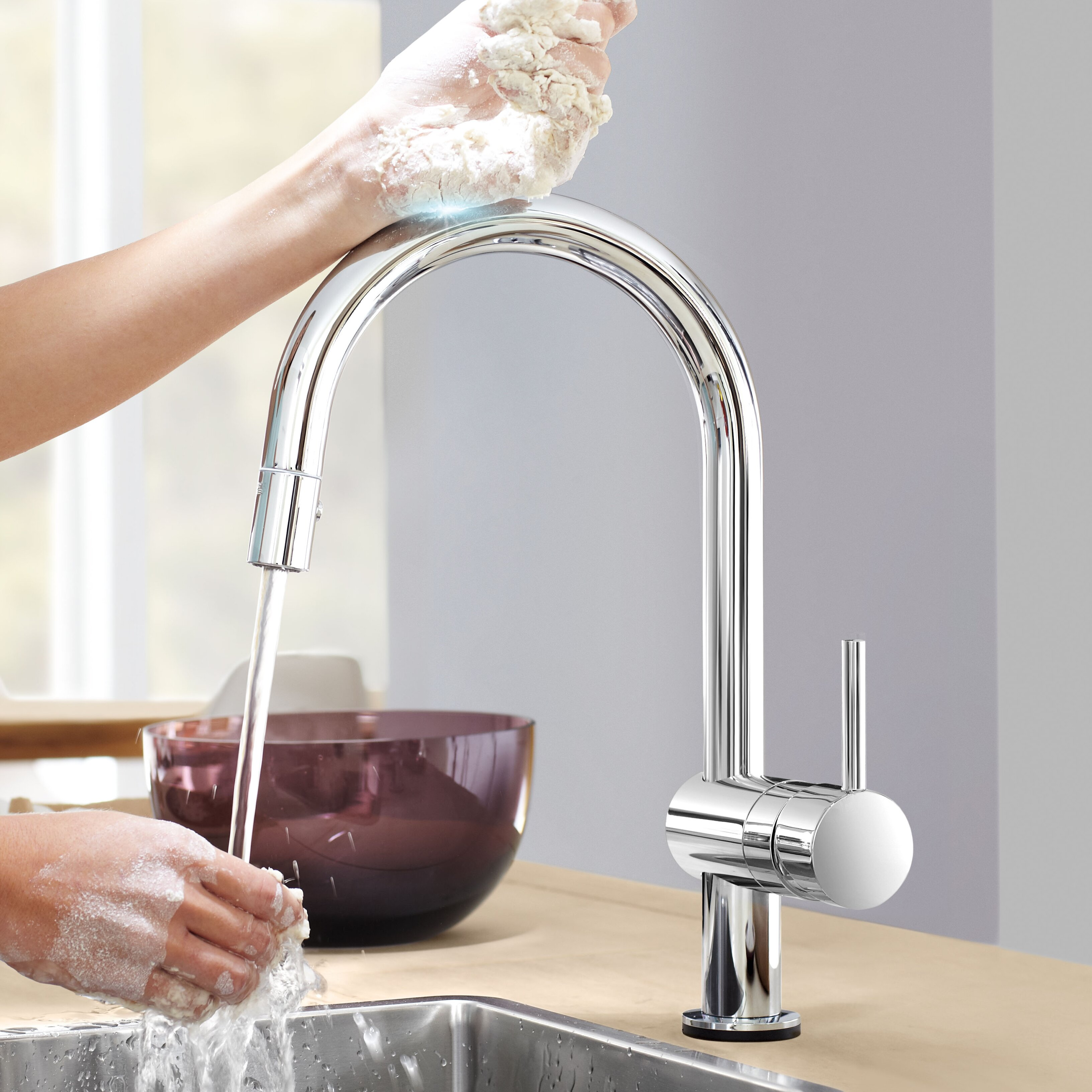 Touch Kitchen Faucets: Grohe Minta Touch Single Handle Single Hole Standard