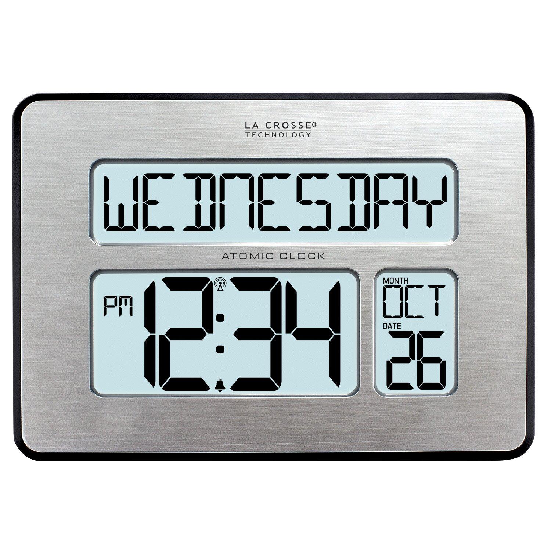 atomic full calendar clock wayfair. Black Bedroom Furniture Sets. Home Design Ideas