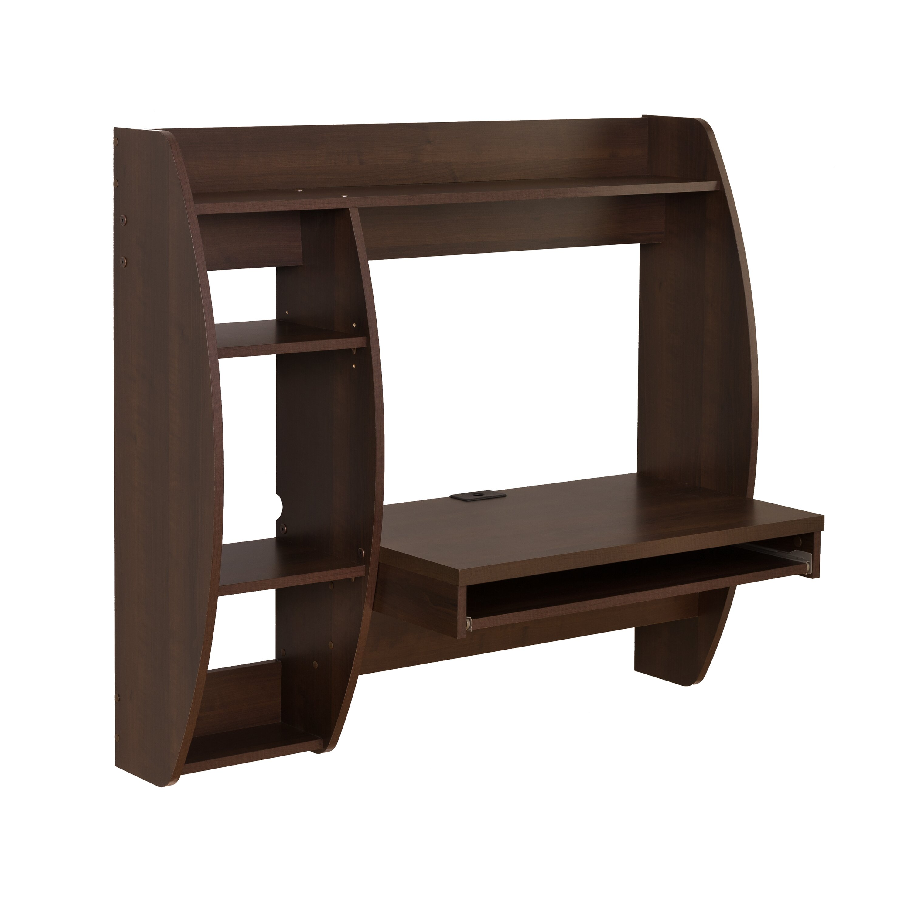 Prepac Floating Desk With Storage And Keyboard Tray