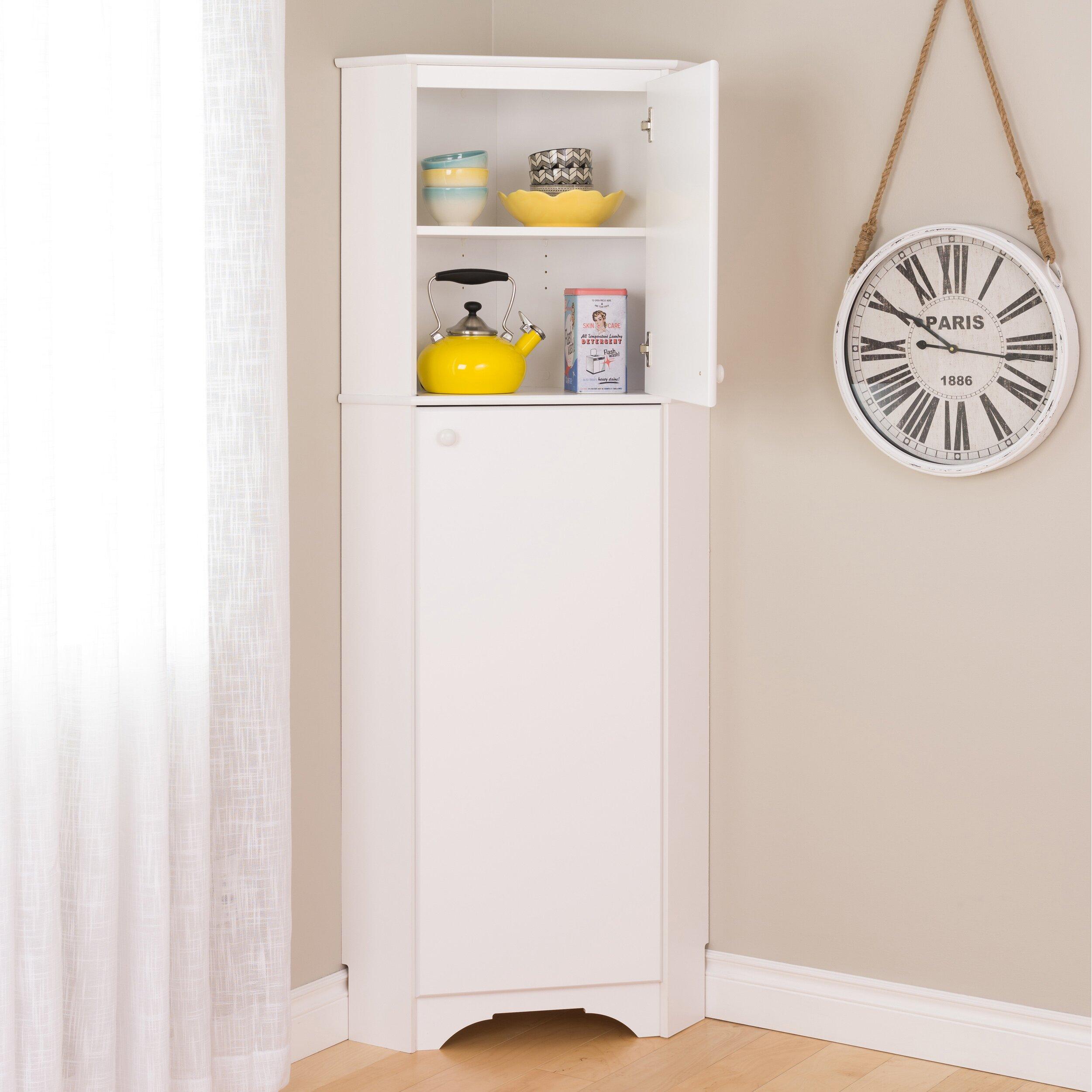Elite 2-Door Corner Storage Cabinet | Wayfair