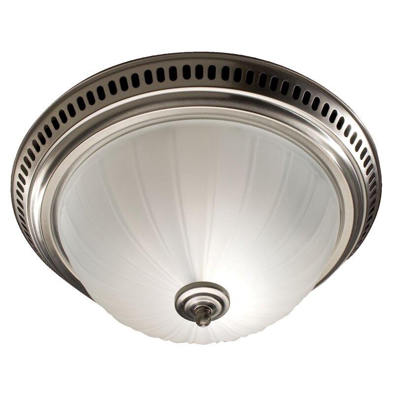 Shop Broan 3 5 Sone 70 Cfm Satin Nickel Bathroom Fan With