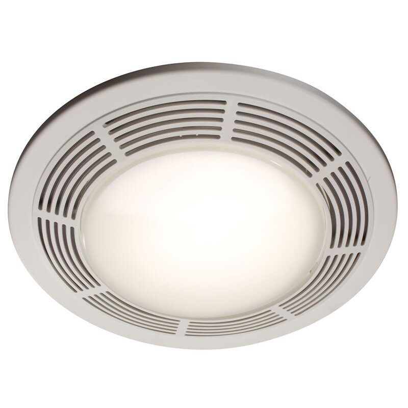 Round 100 Cfm Exhaust Bathroom Fan With Light And Night Light Wayfair