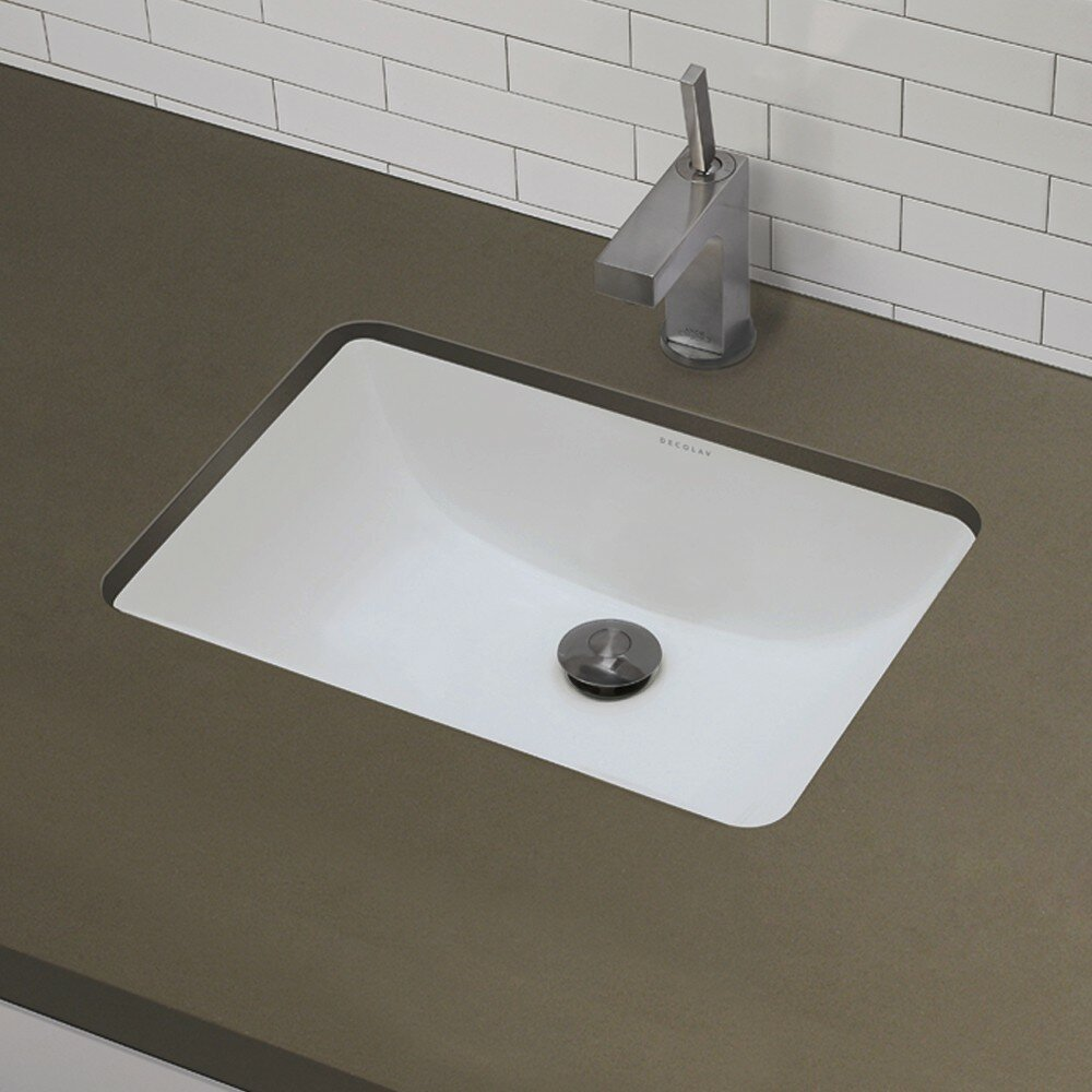 Https Www Wayfair Com Decolav Classic Rectangular Undermount Bathroom Sink With Overflow 1402 C Dlv1157 Html