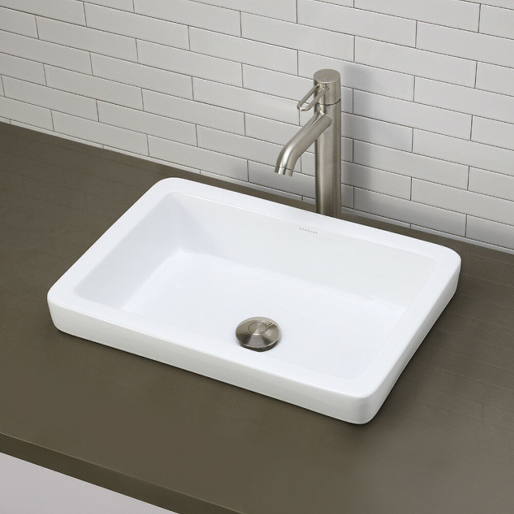Recessed Bathroom Sink : ... Classically Redefined Semi-Recessed Bathroom Sink & Reviews Wayfair