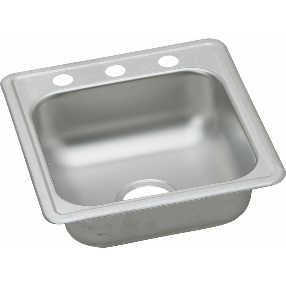 "Top Mount Sink Kitchen: Elkay Dayton 17"" X 19"" Top Mount Kitchen Sink & Reviews"