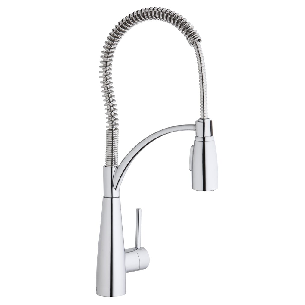 Elkay Avado Single Handle Deck Mount Kitchen Faucet With