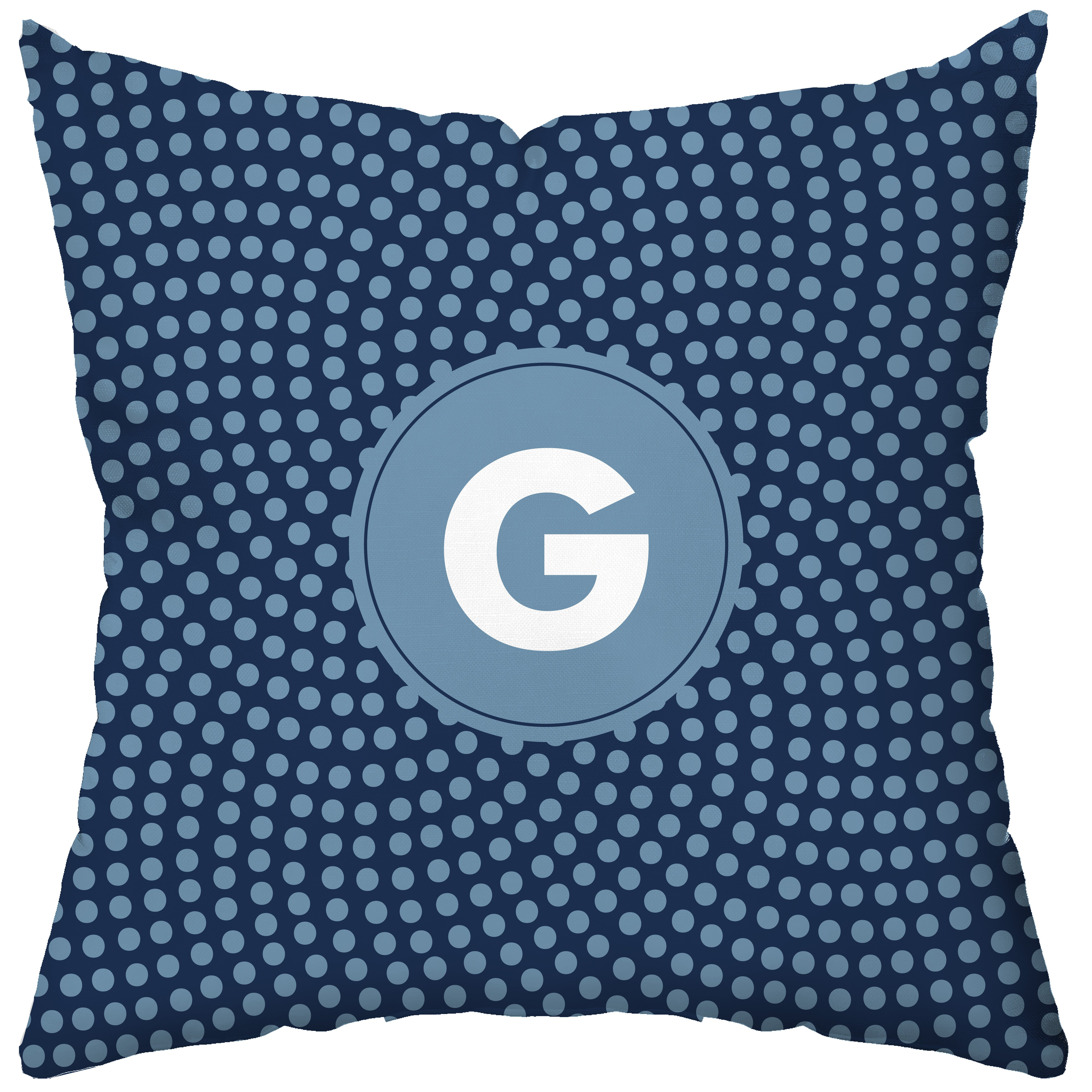 Custom Monogrammed Throw Pillows : Checkerboard Personalized Make a Wish Throw Pillow AllModern