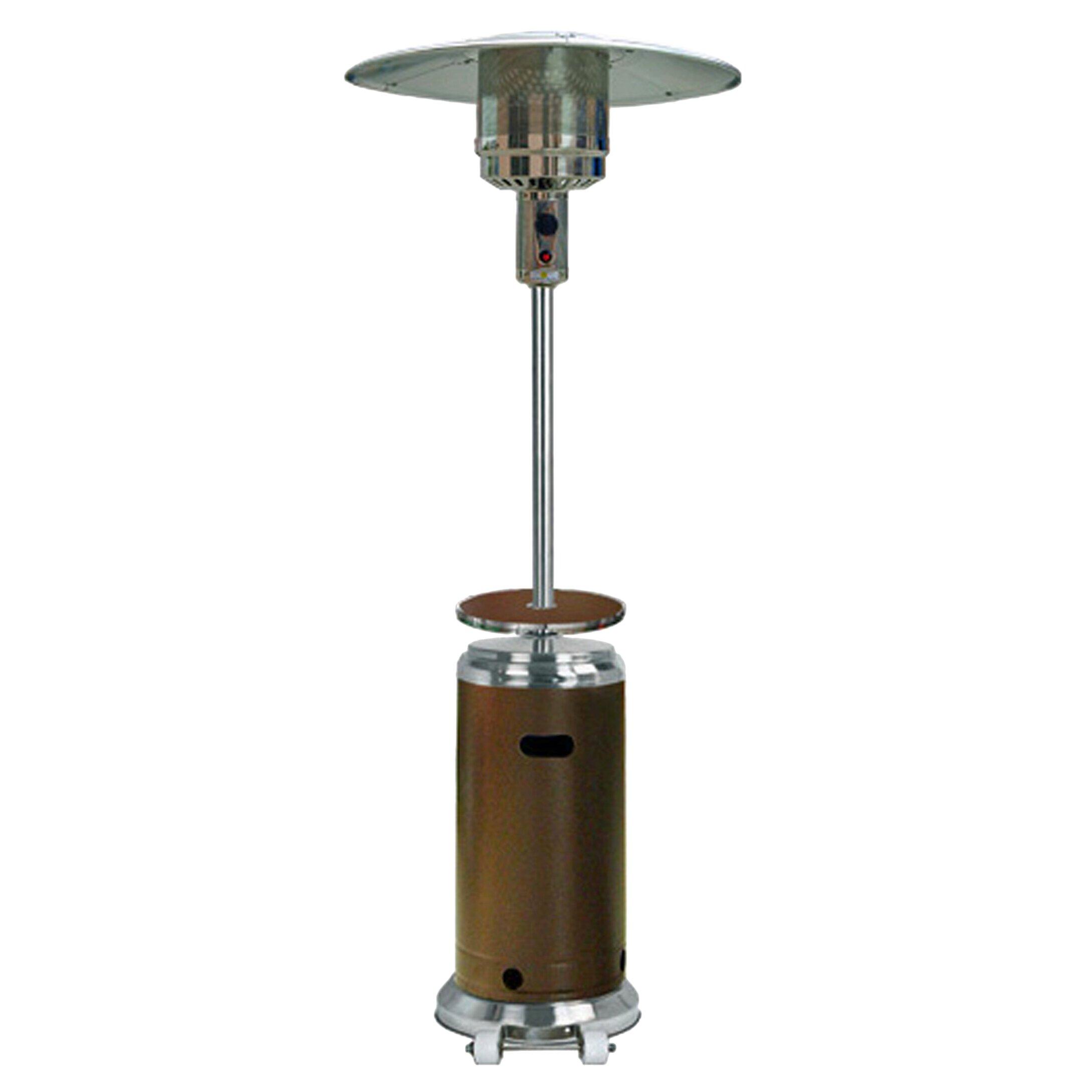 Az Patio Heaters Tall Propane Patio Heater With Table