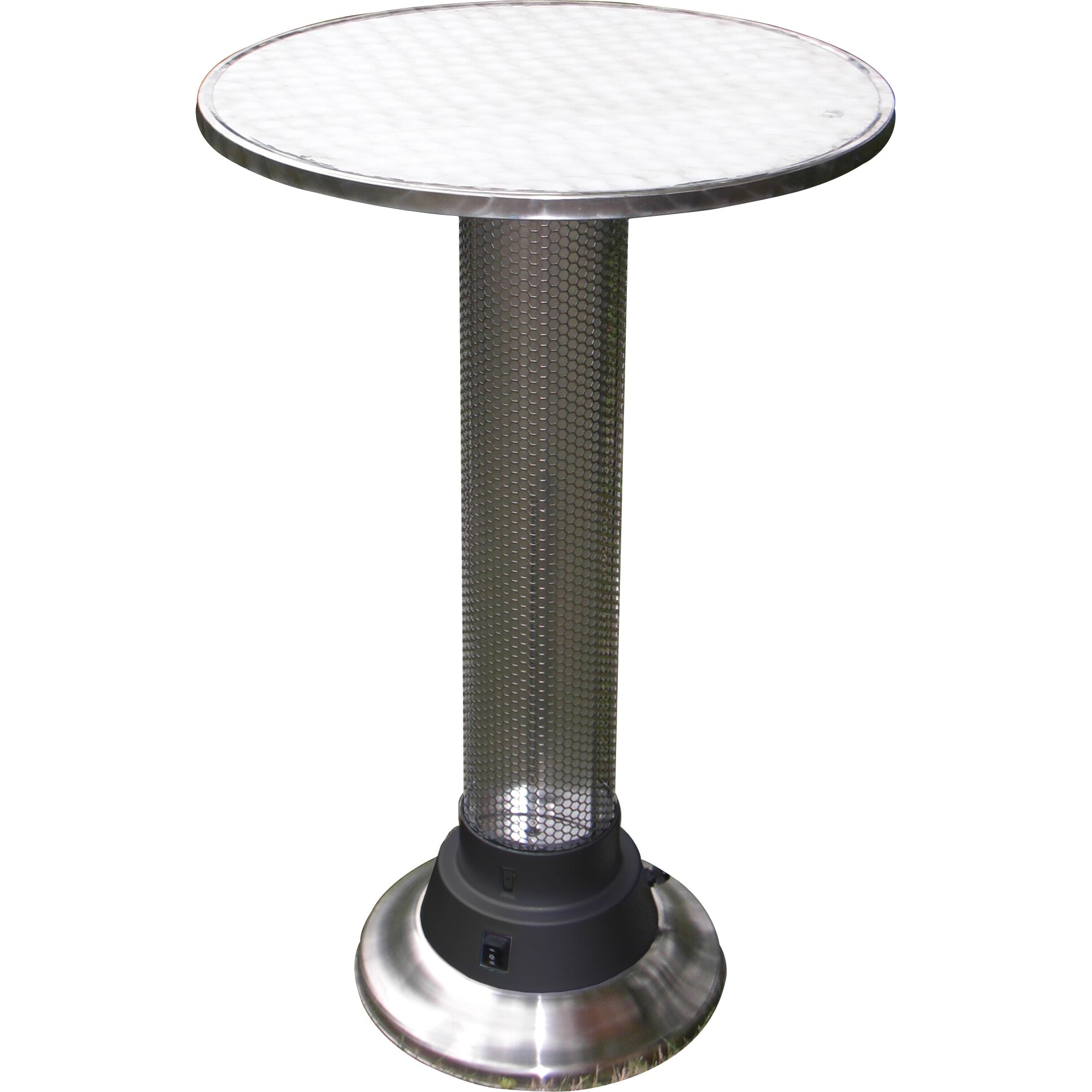 pub table with built in electric heater wayfair