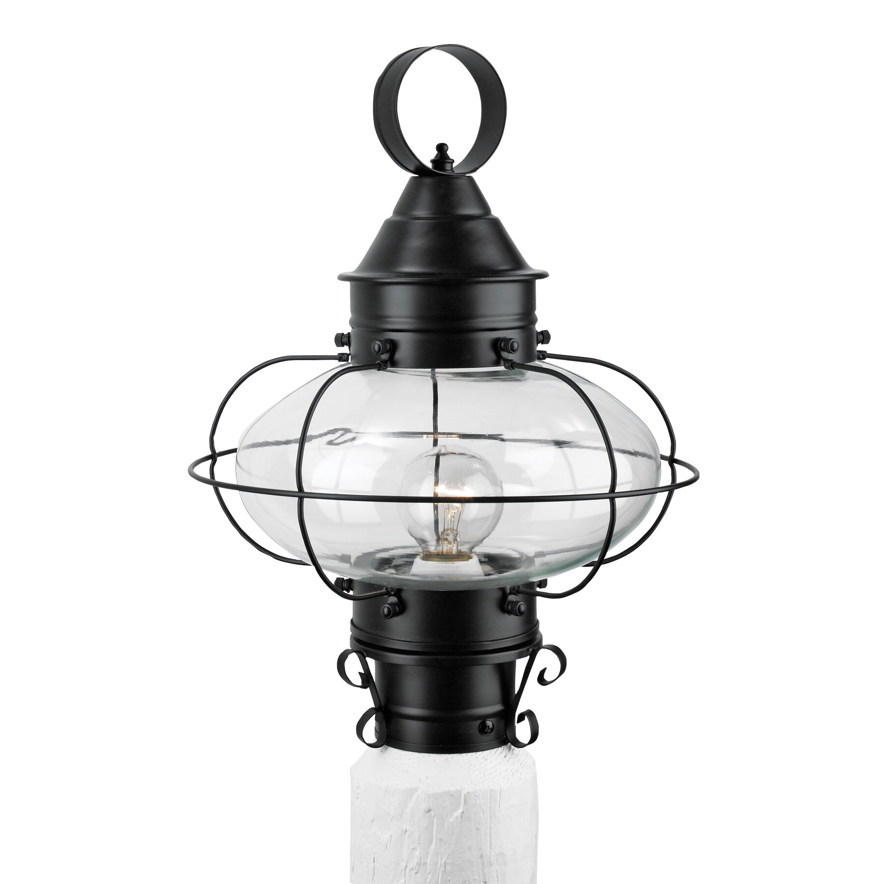cottage onion 1 light outdoor post light by norwell lighting. Black Bedroom Furniture Sets. Home Design Ideas