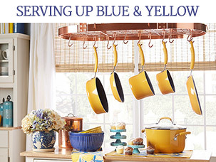 Serving Up Blue & Yellow