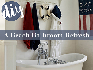 A Beach Bathroom Refresh