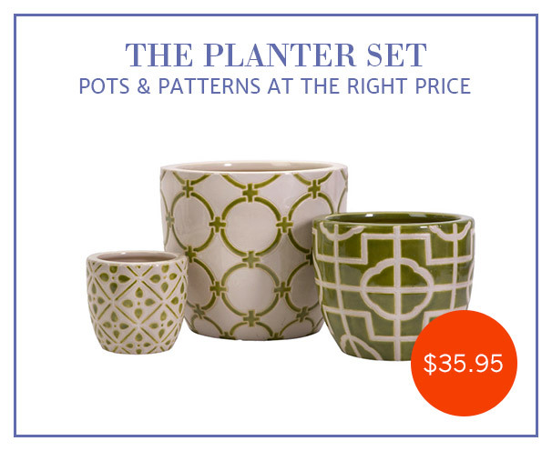 Style Steal: Planters