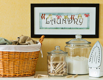 Laundry Room Refresh - Crisp & Clean Storage, Baskets, Decor ...